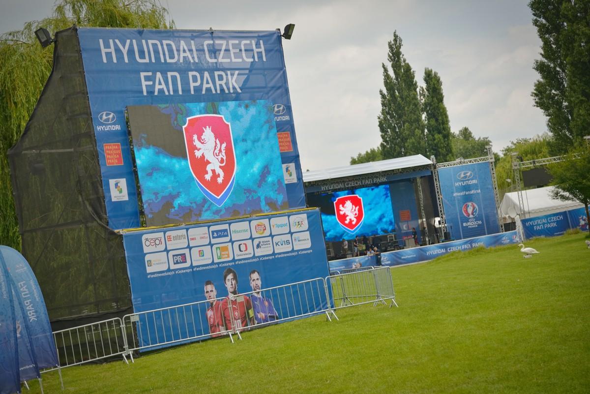 Hyundai Czech Fan Park: branding prostor